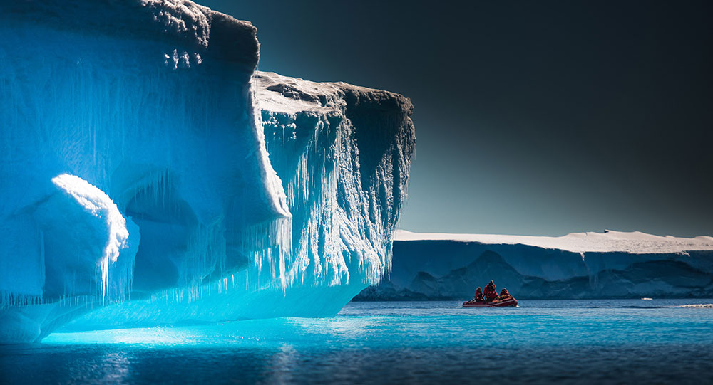 Photograph Icebergs in the Gelarche Strait and Schollart Channel