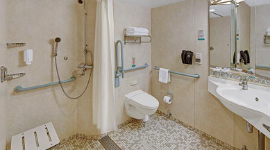 Luxurious bathrooms of the Staterooms