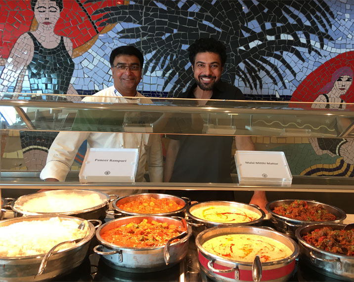 Chef Ranveer Brar and Anil George