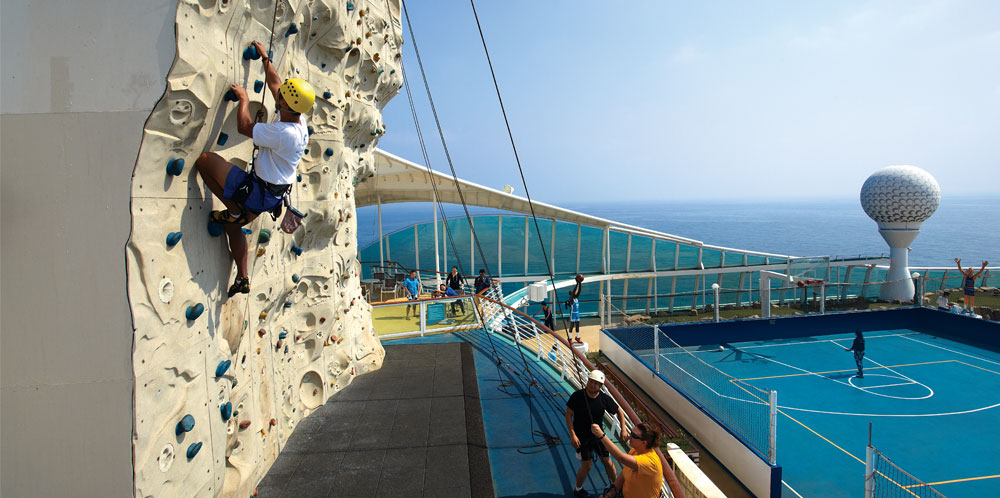 Rock Climbing Wall, Voyager of the Seas