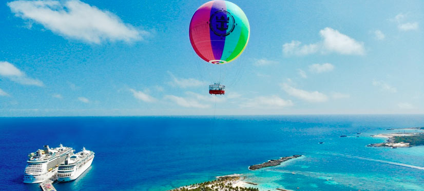 Helium Balloon ride 450 feet